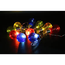 alpine 10 light multi color led light bulbs with edison bulb