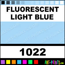 Blue Paints Fluorescent Light Blue Marker Fabric Textile Paints 1022