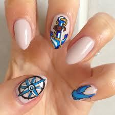 nautical themed nail art nails gallery