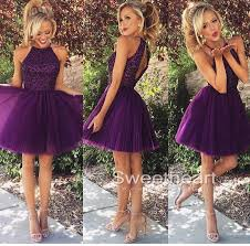 sweetheart purple sequin tulle short prom dress homecoming