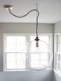 Chandelier Swag Lamp How To Diy Sphere Chandelier From A Glass Bowl Curbly