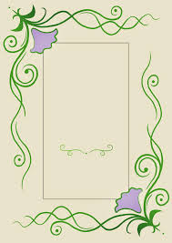 simple flower page border designs free download clip art free