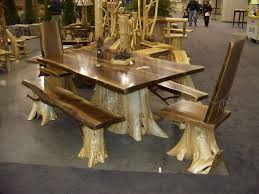 rustic log dining room tables mesmerizing log dining table and chairs 29 for dining room sets