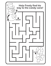 christmas maze free printable coloring pages