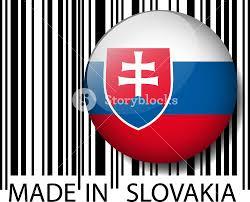 Slovak Flag Made In Slovakia Barcode Vector Illustration Royalty Free Stock