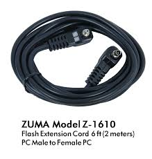 2 meters feet flash extension cord straight 2 meter 6 feet pc male female z