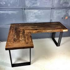 L Corner Desk Outstanding Reclaimed Wood L Shaped Desk Stuff To Buy Pinterest