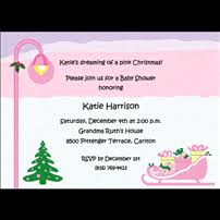 Christmas Baby Shower Invitations - holiday baby shower invitations with christmas themes