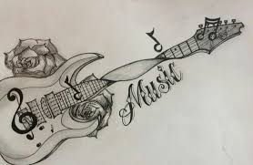 guitar tattoo tattoos and body art clipart library clip