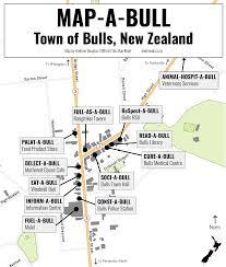 New Zealand Map Map A Bull Bulls New Zealand Map The Map Kiwi
