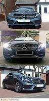 black diamond benz chrome black c43 diamond star style front bumper bar grille for