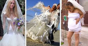 disgusting wedding dresses top 20 ugliest wedding dresses acid