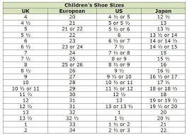 shoe size chart india vs uk clothing size conversion charts
