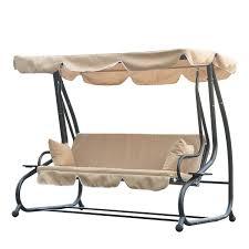 hammock bench outsunny swinging 3 seater garden hammock swing seat chair bench