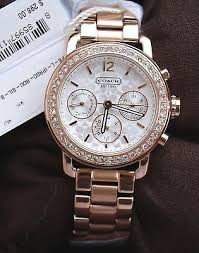 bracelet watches ebay images Nwt coach legacy sport mini bracelet watch crystals womens rose jpg