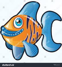 vector cute cartoon fish character graphic stock vector 144308185