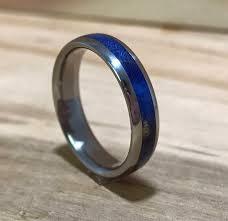 wood inlay wedding band titanium ring wood ring wood inlay ring womens ring womens