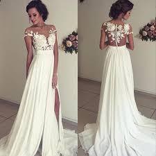 white wedding dresses white bohemian wedding dress vintage chiffon wedding dress
