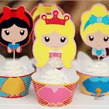 aliexpress com buy 96sets snow white princess cupcake wrappers