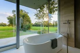 See Through Bathroom See Through Glass House On Private Pasture