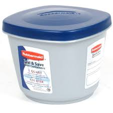 Gift Wrap Storage Containers Rubbermaid Rubbermaid Seal N Save Paint Sealable Container 1 Qt Hardware
