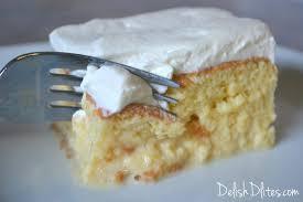 torta de tres leches 3 milks cake delish d u0027lites