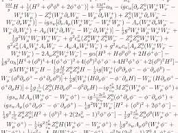 Physics Reference Table by Standard Model Of The Cosmos As A Math Equation Business Insider