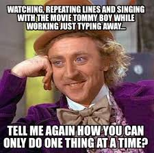Tommy Boy Memes - meme maker watching repeating lines and singing with the movie