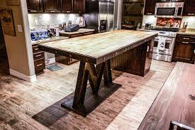 m base steel u0026 reclaimed wood kitchen island porter barn wood