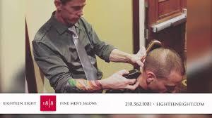 18 8 fine men u0027s salons at the rim barbers in san antonio youtube