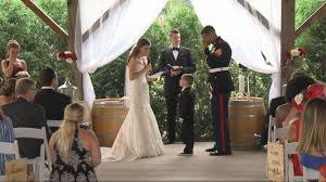 video of military wedding goes viral video abc news