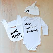 oui set oui oui personalized gift set custom printed baby onesies hi