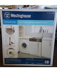 Faucet For Utility Sink Amazing Deal On Westinghouse Stainless Steel Utility Sink Storage