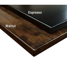 ship butcher block beech wood table top in dark walnut or espresso