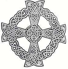 celtic cross coloring page kids coloring