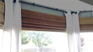 Kitchen Blinds And Shades Ideas by Decorating Ideas Terrific Gold Brown Stripe Outside Mount Roman