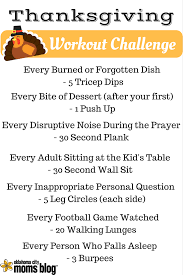 the thanksgiving dinner workout challenge