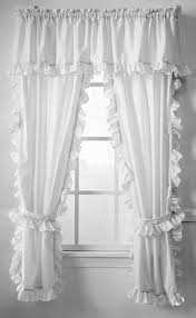 amazon com classic white cape cod ruffle valance home u0026 kitchen