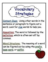 wac word structure apposition context clues vocabulary anchor