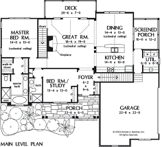 main floor master house plans home plan the cloverbrook by donald a gardner architects