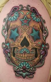 14 best feminine sugar skull tattoo designs images on pinterest