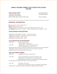 Resume For Teachers Job Application by 10 Format Of A Resume For Job Application Basic Job Appication