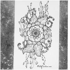 Flower Designs On Paper Drawing Archives Page 3 Of 5 Kelly Caroline Kelly Caroline