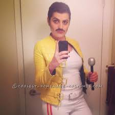 homemade freddie mercury costume for a woman halloween costume