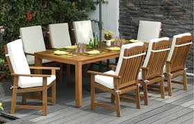 parsons 8 seater garden dining set with cushions out u0026 out