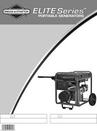 briggs u0026 stratton portable generator 030242 user guide