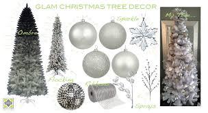 Artificial Christmas Tree Flocking Spray by Glamorous Holiday Decor U2026 Alena Capra Design