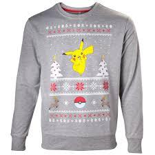 christmas jumper pokémon pikachu christmas jumper nintendo uk store