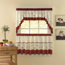 Kitchen Curtain Ideas Photos Beautiful Kitchen Valances White Mirror Window With Stained Wall