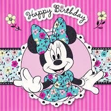 minnie mouse birthday image disney minnie mouse square birthday card 22539 1410074287